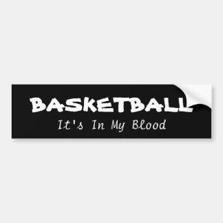 Baloncesto: su adentro mi sangre pegatina para auto