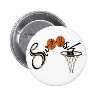 Baloncesto Swoosh Pin Redondo De 2 Pulgadas