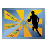 Baloncesto - tarjeta feliz del día de padre