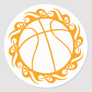baloncesto. tribal pegatina redonda