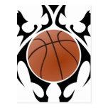 baloncesto. tribal postales