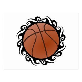 baloncesto tribal tarjeta postal