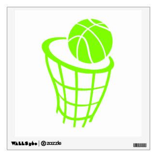 Baloncesto verde chartreuse, de neón