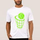 Baloncesto verde chartreuse, de neón camisetas