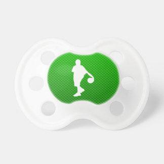 Baloncesto verde chupetes de bebe
