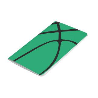 Baloncesto verde de encargo cuaderno