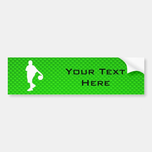 Baloncesto verde pegatina para auto