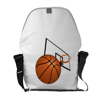 Baloncesto y aro bolsas de mensajeria
