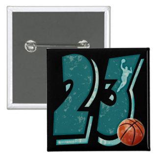 Baloncesto y jugador del número 23 pins