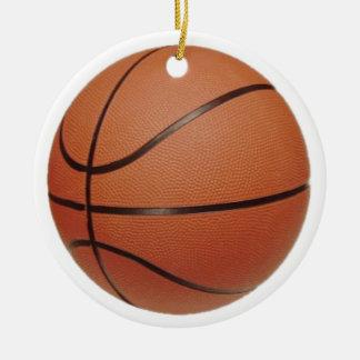 Baloncesto y jugador del número 3 adornos de navidad