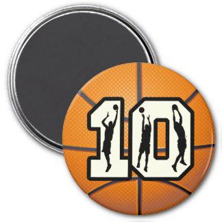 Baloncesto y jugadores del número 10 iman de frigorífico