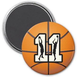 Baloncesto y jugadores del número 11 imanes de nevera