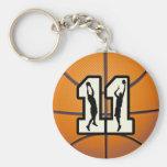 Baloncesto y jugadores del número 11 llavero