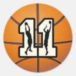 Baloncesto y jugadores del número 11 pegatinas