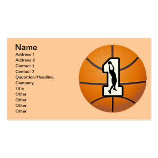 Baloncesto y jugadores del número 1 tarjetas de visita