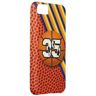 Baloncesto y jugadores del número 35 funda para iPhone 5C