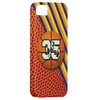 Baloncesto y jugadores del número 35 iPhone 5 carcasas