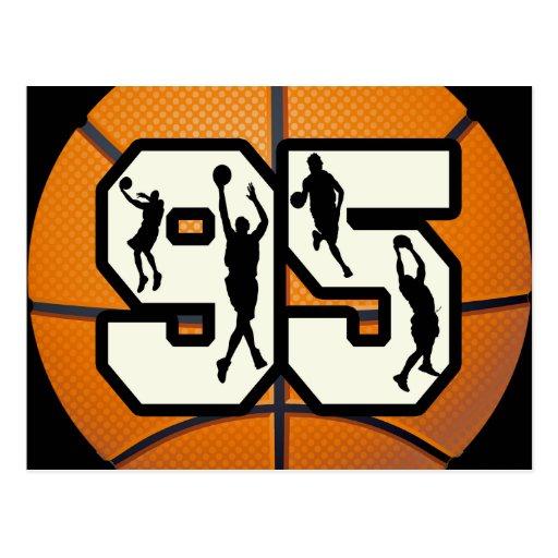 Baloncesto y jugadores del número 95 postal