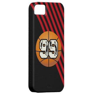 Baloncesto y jugadores del número 99 iPhone 5 carcasas