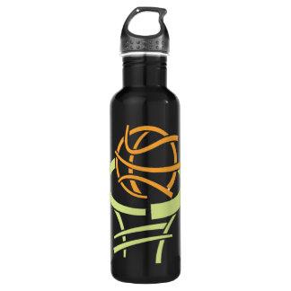 Baloncesto y red botella de agua de acero inoxidable