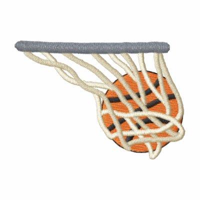 Baloncesto y red sudadera bordada