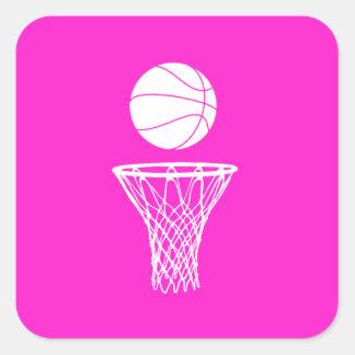 Baloncesto y rosa del pegatina del aro