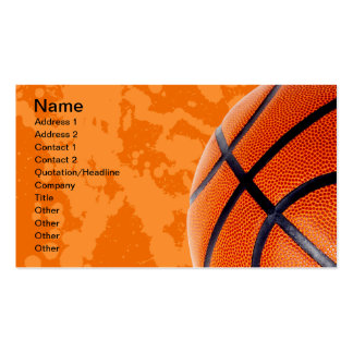 Baloncesto y salpicadura de la pintura tarjetas de visita