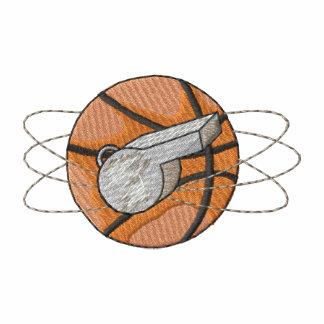 Baloncesto y silbido polo bordado