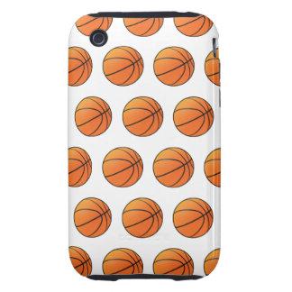 baloncestos 3d (fondo editable!) iPhone 3 tough coberturas