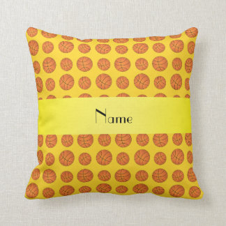 Baloncestos amarillos conocidos personalizados almohada