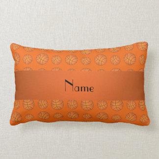 Baloncestos anaranjados conocidos personalizados cojines