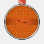 Baloncestos anaranjados conocidos personalizados ornamento de reyes magos