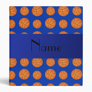 "Baloncestos azules conocidos personalizados carpeta 1"""