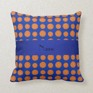 Baloncestos azules conocidos personalizados almohada