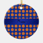 Baloncestos azules conocidos personalizados ornamentos de reyes