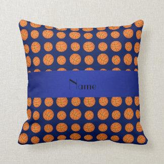 Baloncestos conocidos personalizados de los azules almohada