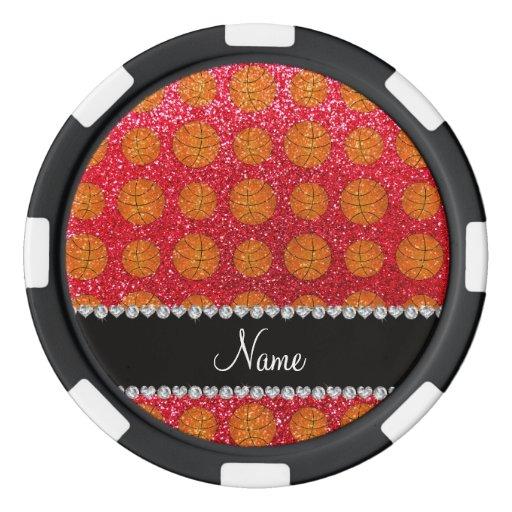 Baloncestos conocidos personalizados del brillo fichas de póquer