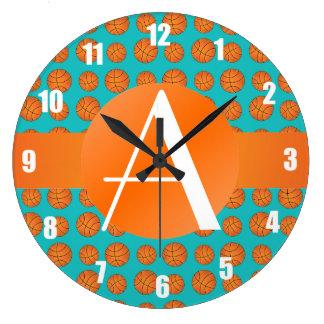 Baloncestos de la turquesa del monograma relojes