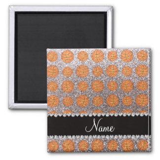 Baloncestos de plata conocidos personalizados del imán cuadrado