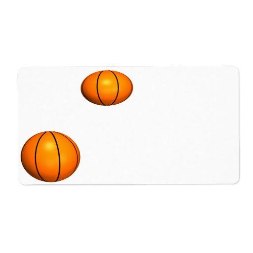 Baloncestos Etiqueta De Envío