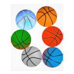 Baloncestos múltiples flyer a todo color