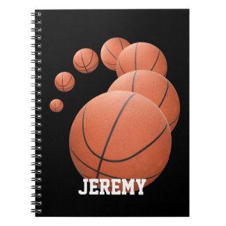 Baloncestos personalizados en el aire cuadernos