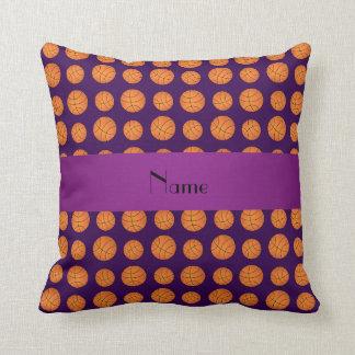Baloncestos púrpuras conocidos personalizados cojines