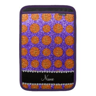 Baloncestos púrpuras conocidos personalizados del  funda  MacBook