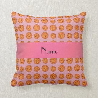 Baloncestos rosados bonitos conocidos personalizad almohadas