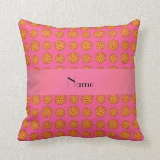Baloncestos rosados conocidos personalizados cojines