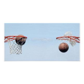 ¡Baloncestos! Tarjeta Con Foto Personalizada