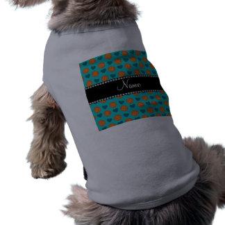 Baloncestos y corazones conocidos de encargo de la camisetas de perrito