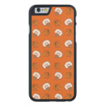 Baloncestos y modelo anaranjados de las redes funda de iPhone 6 carved® slim de arce