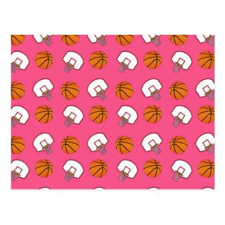 Baloncestos y modelo rosados de las redes postales